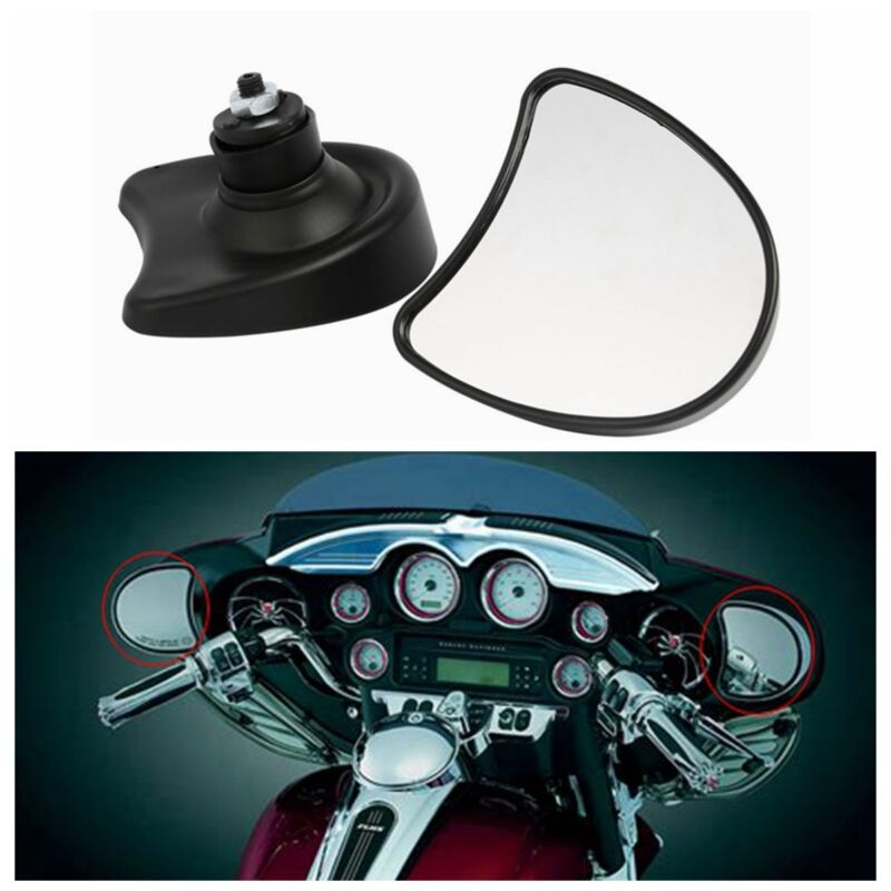 Black Fairing Mount Mirrors Fit for Harley Electra Glide Street Glide 1996-2013