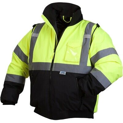 Pyramex Type R Class 3 Insulated Safety Bomber Jacket - Hi Vis Yellowlime