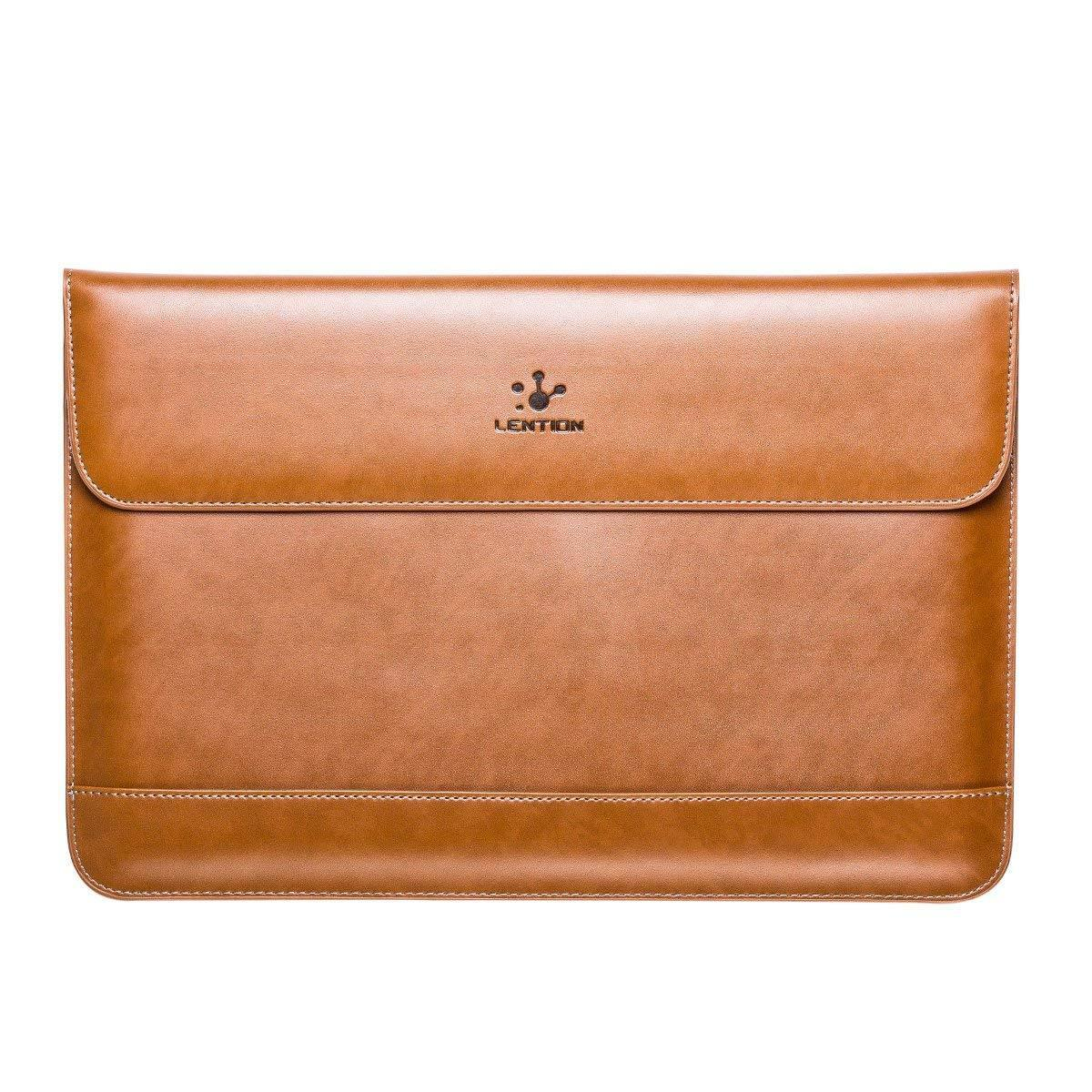 LENTION Leather Sleeve Case for 15-inch Laptop/MacBook Pro -