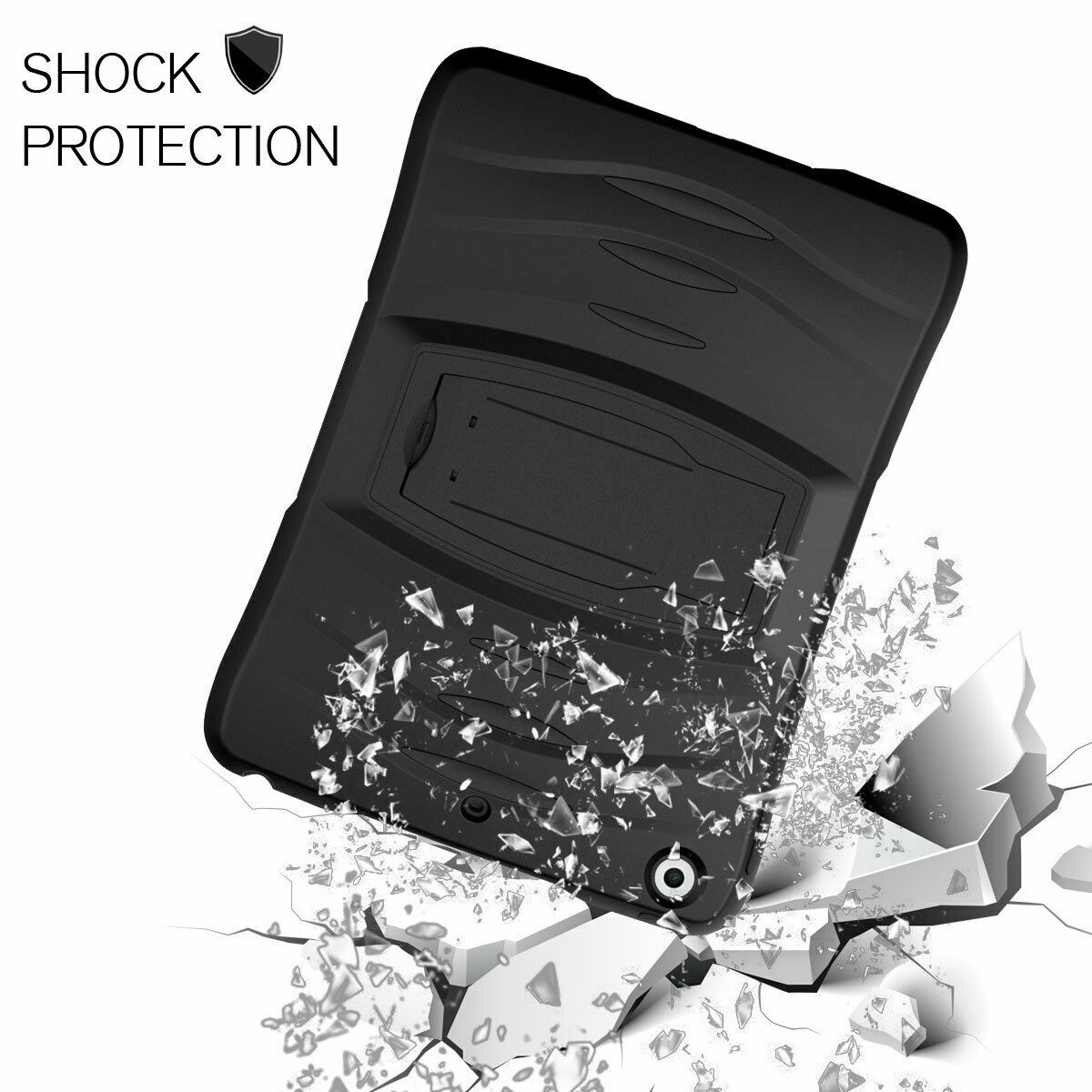 For Samsung Galaxy Tab E 9.6″ SM-T560 Shockproof Armor Hybrid Hard Case Cover BK Cases, Covers, Keyboard Folios