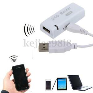 3/4G WiFi Wlan Hotspot Client AP Mini Portable 150Mbps RJ45 USB Wireless Router