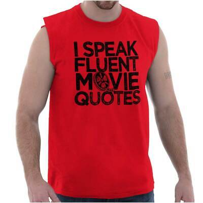 Fluent In Movie Quotes Funny Sarcastic Film Sleeveless T Shirts Tees Tshirts (Film Quote T-shirts)