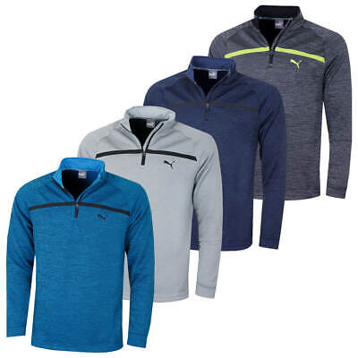Puma Golf Mens Bonded 1/4 Zip WarmCELL Moisture Wicking Popover 47% OFF RRP