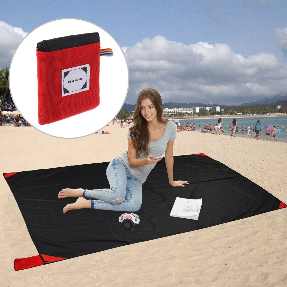 Grand Trunk Sand Proof Beach Blanket Quick Dry Outdoor Picni