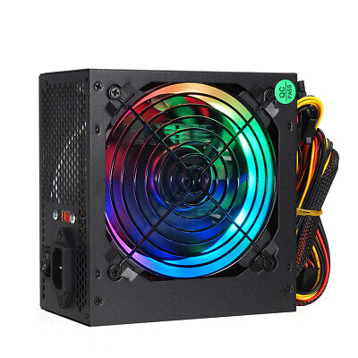 Max 500W Rated 300W 24 Pin Computer Gaming Power Supply LED