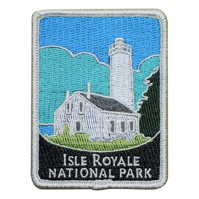 Isle Royale National Park Patch - Rock Harbor Lighthouse, Michigan (Iron (National Harbor Kids)