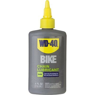 WD40 BIKE BICYCLE 100ML DRY CHAIN LUBE FOR DRY DUSTY AND SUMMER USE