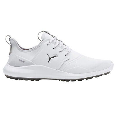 Puma Golf IGNITE NXT Pro Golf Shoes - White/Silver/Grey