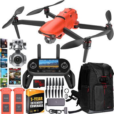 Autel EVO 2 Drone Quadcopter II 8K Combo Extra Battery Extended Warranty Bundle
