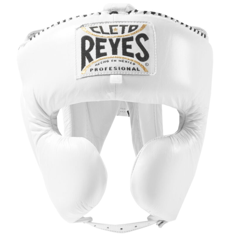 Cleto Reyes Classic Training Cheek Protection Boxing Headgear - White