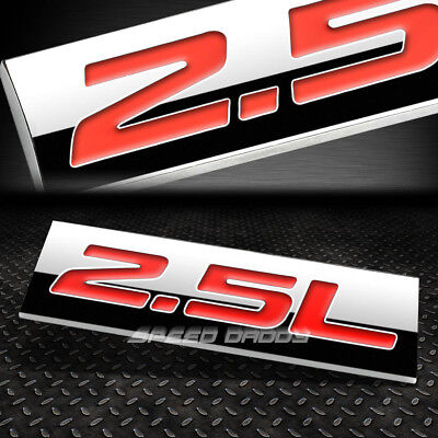 METAL EMBLEM CAR BUMPER TRUNK FENDER DECAL LOGO BADGE CHROME RED 2.5L 2.5 L