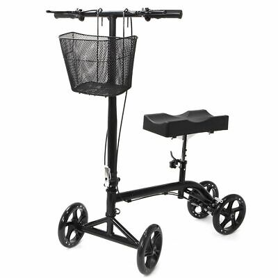 Knee Walker Steerable Foldable Scooter Turning Brake Basket