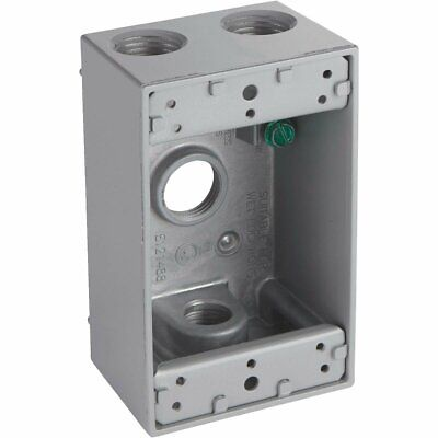 Gray Weatherproof Electrical Outdoor Outlet Box - 5321-0 528188