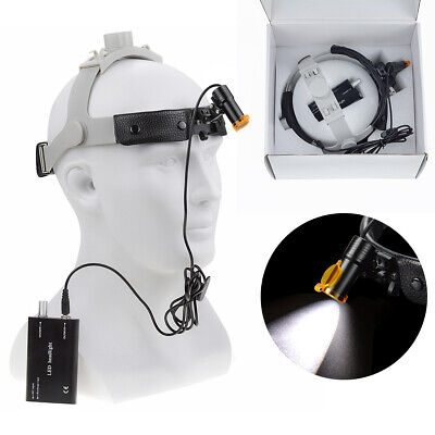 Dental Surgical 5w Led Headlight Lamp With Filter Leather Headband Dy-007-h Ce
