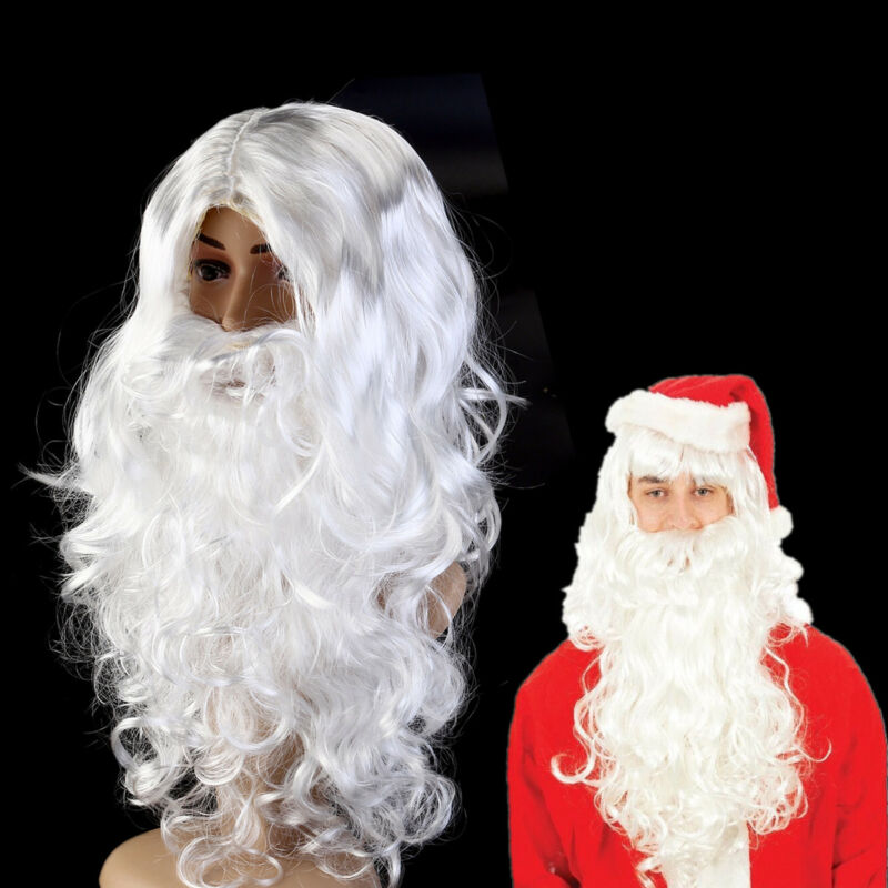 FATHER CHRISTMAS SANTA CLAUS NICHOLAS BEARD Dress Up Costume Accessories