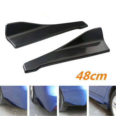 Car Bumper Spoiler Rear Lip Canard Diffuser Anti Scratch Wrap Angle Splitter Kit for sale  Shipping to Canada