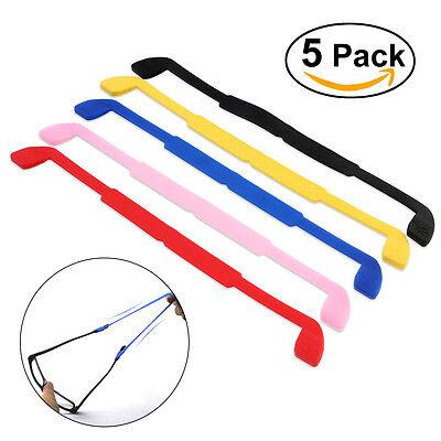 5pcs Silicone Anti-slip Eyeglasses Sunglasses Glasses Sports Headband - Sunglasses Headband