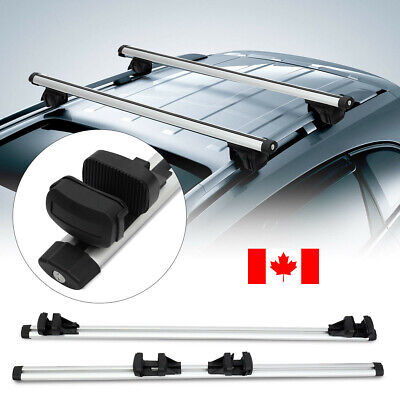 "2x 47"" Universal Roof Rack CrossBar  Cross Bar For Car With Raised Rail Lockable"