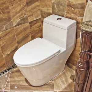 Soft Touch Toilet Seat. Soft Close One Piece Modern White Ceramic Toilet LT3 with Dual Flushing  System eBay