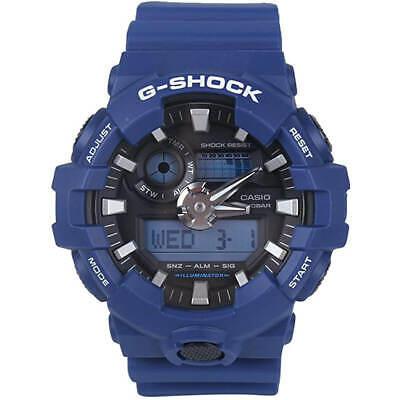 Casio Men's Watch G-Shock Ana-Digi Black Dial Blue Resin Strap GA700-2A