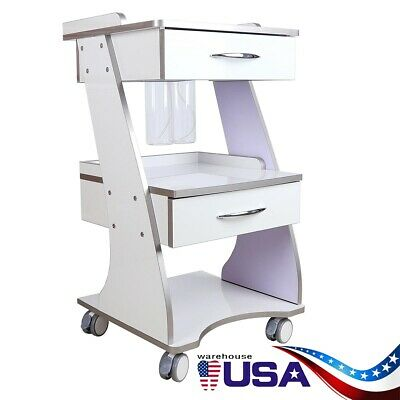 Mobile Dental Built-in Socket Tool Cart Trolley Auto-water Bottle Supply Brakes