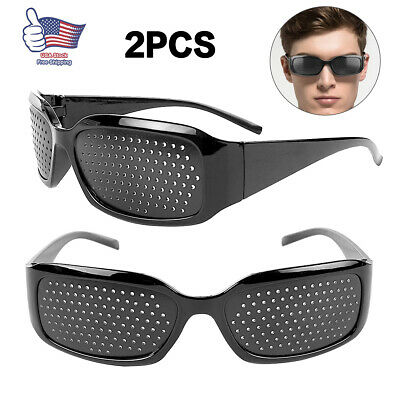 2 Pack Pinhole Glasses Eyesight Improvement Care Exercise Eyewear Outdoor Sport