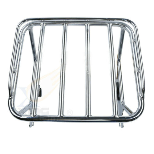 Chrome Detachable two-up Luggage Rack Docking For Harley