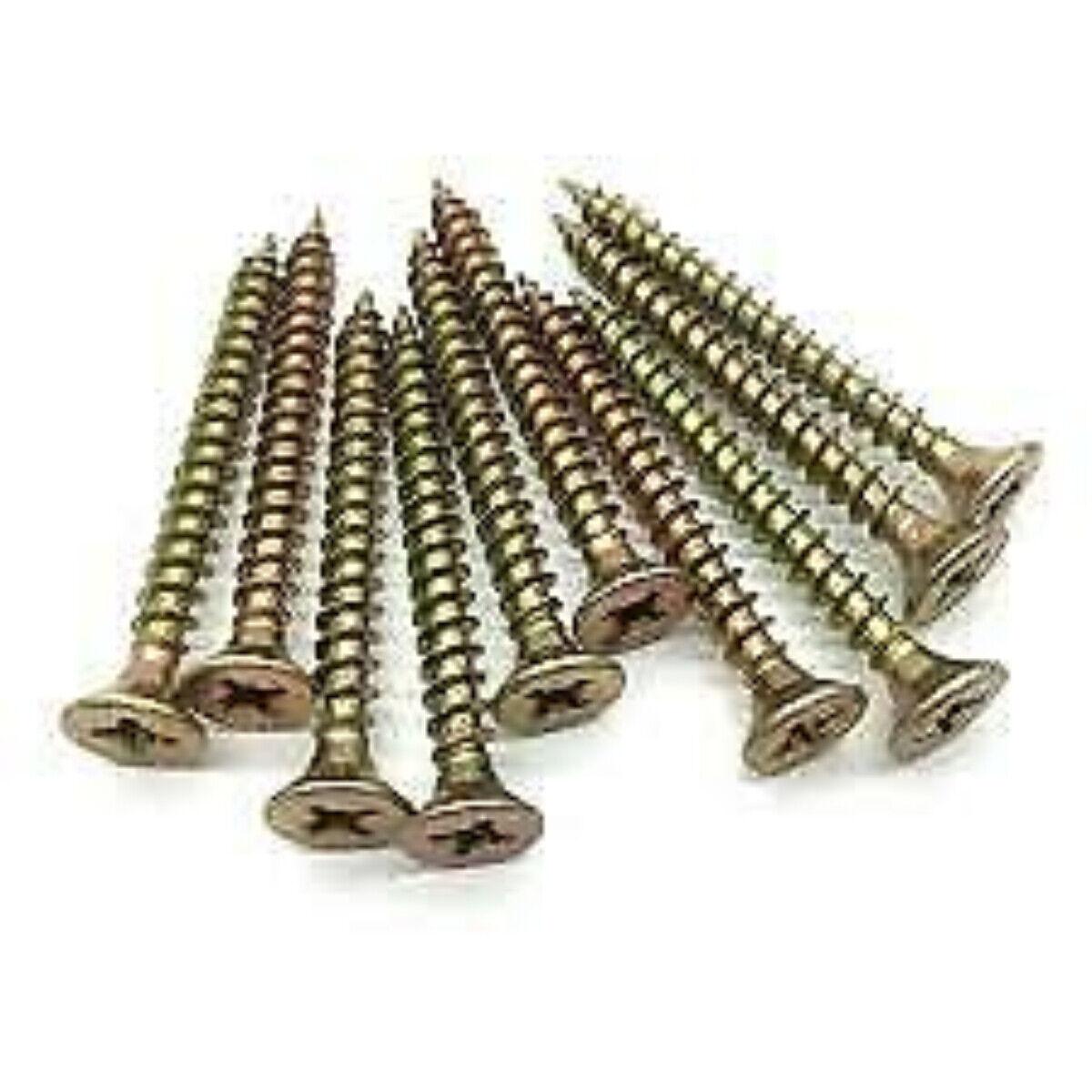 4mm WOOD SCREWS FULL SINGLE THREAD POZIDRIVE MULTI PURPOSE COUNTERSUNK CHIPBOARD