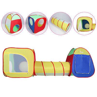 Kids Baby Play Tent Tunnel House In/Outdoor Portable Foldable Children Gift