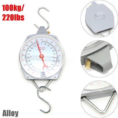 100kg 220lbs Weight Capacity Mechanical Hanging Scales Mechanical With 2 Hook