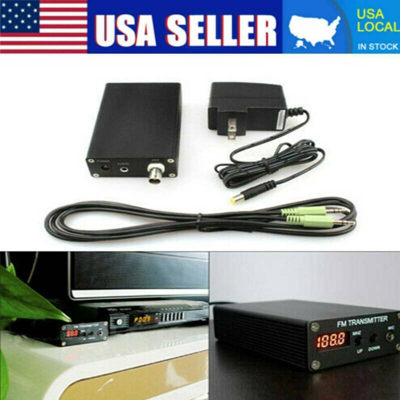 USA 1mW Stereo Home FM TRANSMITTER + Antenna + Power Supply