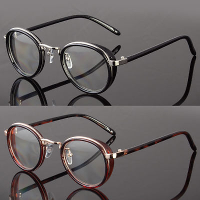 Men Women Clear Lens Round Steampunk Retro Fashion Eye Glasses Hipster (Clear Lens Hipster Glasses)