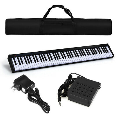 88 Key Portable Digital Piano MIDI Keyboard Weighted Key Christmas Gift w/Pedal