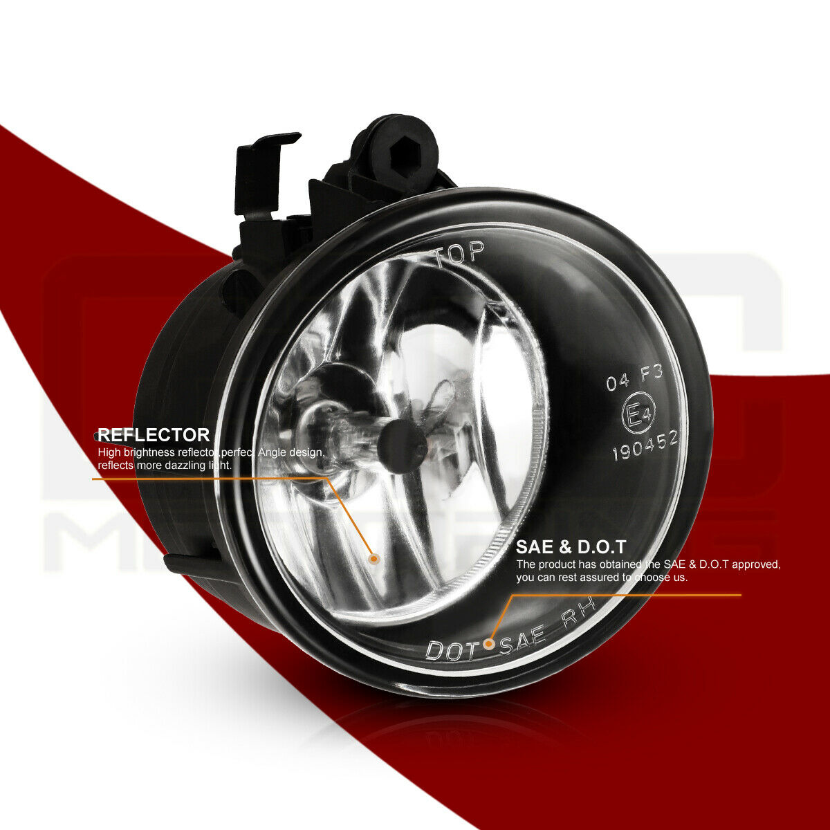 For 17-18 BMW X1// 11-17 X3//15-17 X4 Fog Lights Replace Lamp Clear Glass Lens Set