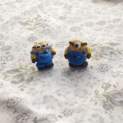Minion Stud Earrings Mix Of Eyes Handmade Birthday Gift Ideas Party Bag Fillers - Minion Birthday Party Ideas