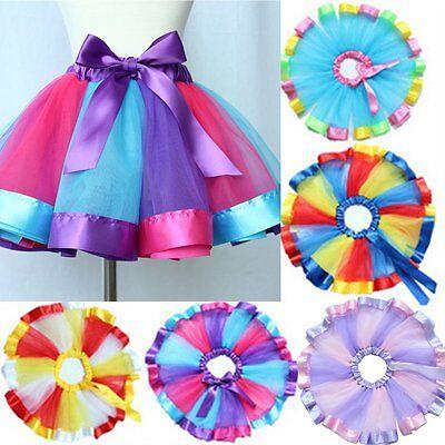Girls Kids Tutu Skirt Princess Party Ballet Dance Wear Dress Pettiskirt Costume
