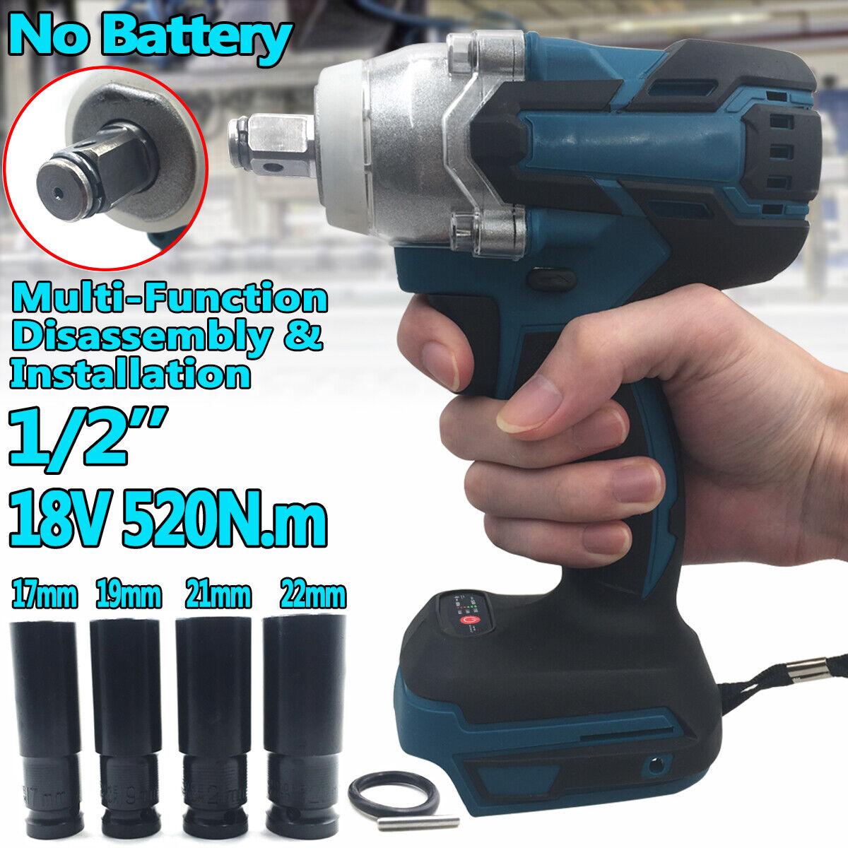 520N Cordless Brushless 1/2'' Impact Wrench Body For Makita