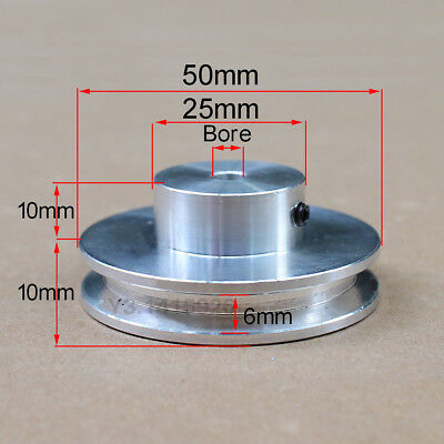 50mm Outer Diameter V-groove Step Pulley Bore 5mm6mm8mm10mm11mm12mm15mm