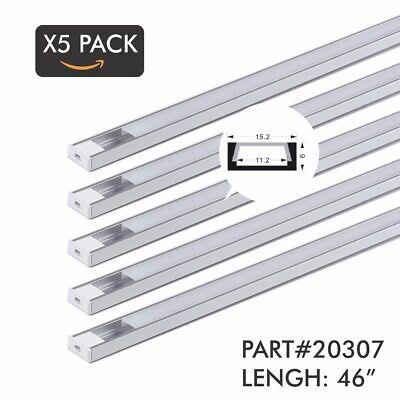 X5 Pack 46 4ft. Aluminum Profilechannel For Led Striptape Light Flush Mount