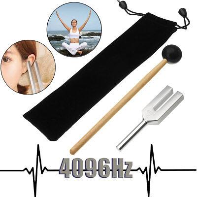 4096hz Aluminum Medical Tuning Fork Chakra Hammer Ball Diagnostic Therapymallet