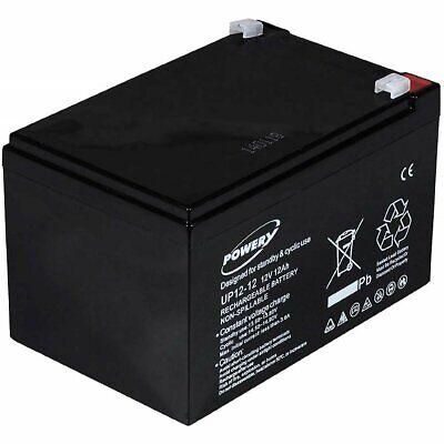 Powery Batería de GEL para E-Bike (Bicicleta Eléctrica) 12V 12Ah 12V