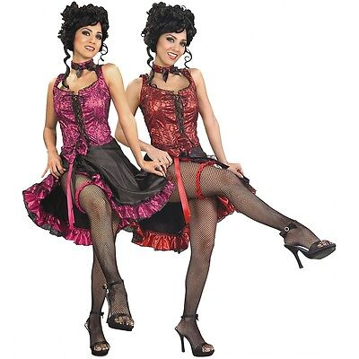 Can Can Costume Adult Saloon Girl Burlesque Dancer Halloween Fancy - Saloon Girl Halloween Costumes