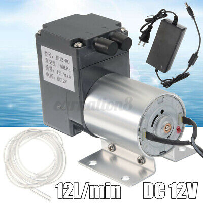 12lmin Vacuum Pump Negative Pressure Suction Bracket Tube Power Supply 12v Dc