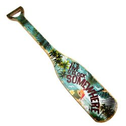 Its 5 Oclock O'Clock Somewhere Wooden Boat Paddle Party Decor/Wood Oar Wall Art
