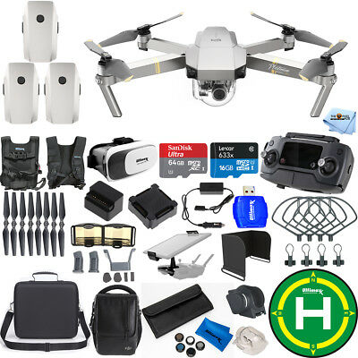 Dji Mavic Pro Platinum Fly More Combo Bundle With Carry Case   Much More