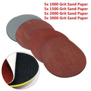 20x Set 5 1000 1500 2000 3000 Grit Sanding Disc Sand Paper Hook