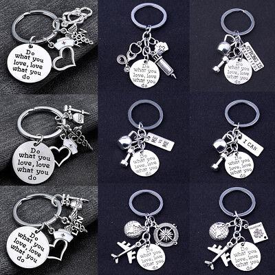 Hot Traveler Nurse Doctor Sports Fitness Keychain Women Men Gift Keyring Jewelry