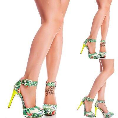 Colorful Floral Print Close toe High Heels Stilettos Pumps Women Fashion H142 Floral Print Pumps