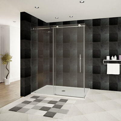 Shower Courtyard 44-48 W x 76 H x 36 D ULTRA-C Chrome by LessCare