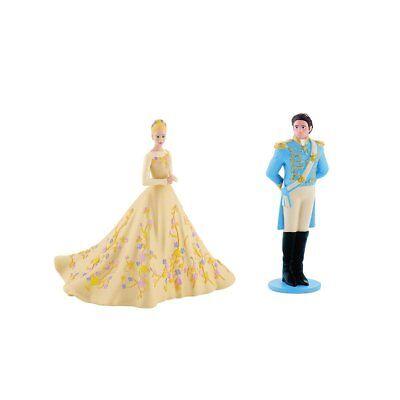 Bullyland Disney 13050+52 Cinderella im Hochzeitskleid+Märchenprinz NEU & OVP
